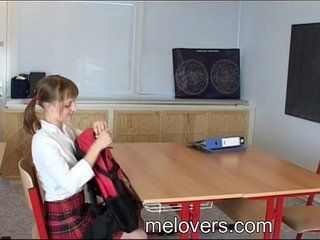 Sian And Hery barely legal teens sex in school classroom