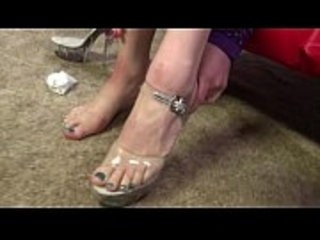 Green toed fetish goddess footjob