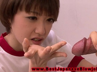 Young asian schoolgirl loves tasting teachers cock