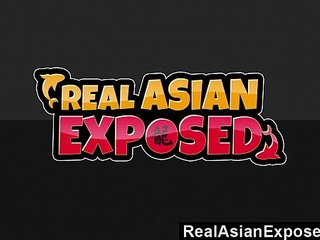 RealAsianExposed Asian Cutie Keeani Lei Gags On Massive Black Cock