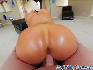 Busty milf titfucking and cockriding