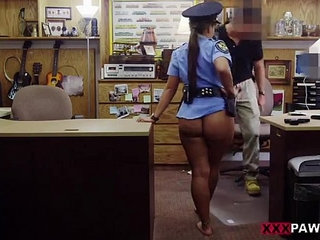 Babe in a police uniform banged up her tight butt on xxxpawn.