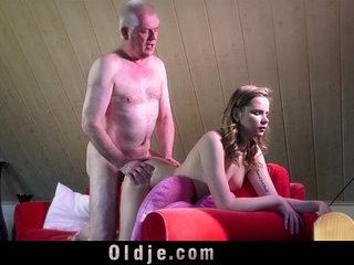 Experienced young escort ass rimming in the craziest fuck with old man