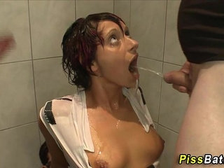 Whore gets golden shower